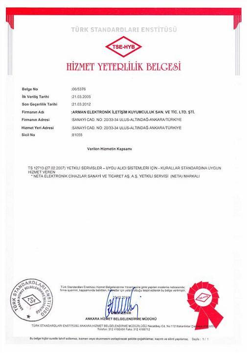 yeni hizmet belgesi